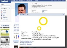 Screen shot from my Facebook