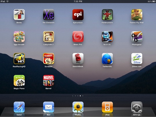 iPad home screen from Amit Agarwal