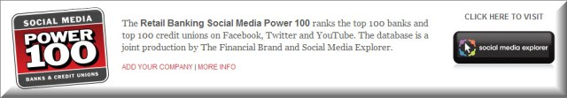 Retail Banking Social Media Power 100 Banner