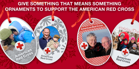Get a custom ornament and give to the Red Cross