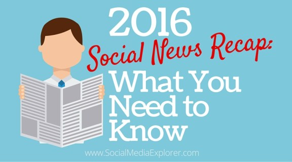 Social Media News Recap: What You Need to Know for 2016