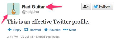 Twitter profile setup