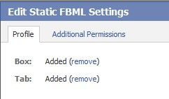 Add the FBML as a TAB