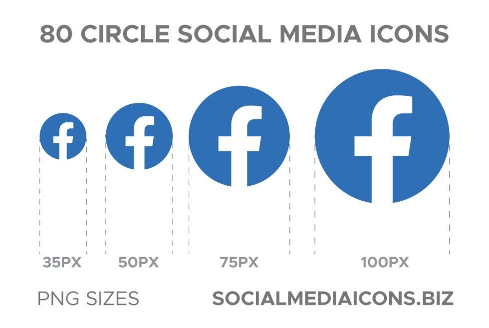 Circle social media icon png sizes