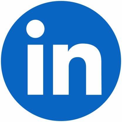 Linkedin circle social media icon