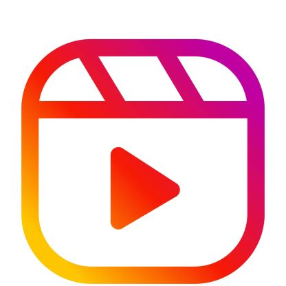 Instagram Reels icon - 80 social media icons ready to use instant download