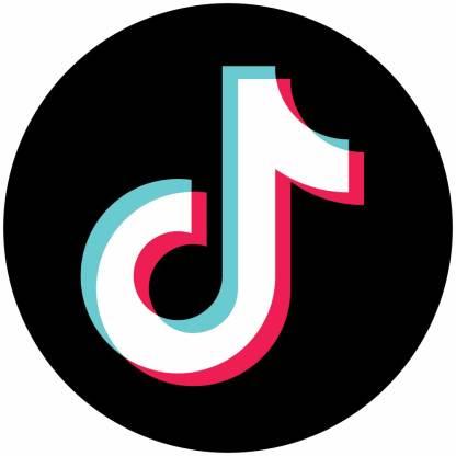 TikTok circle social media icons