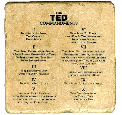 TED Commandments