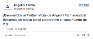 Angelini Farma 1 Tweet