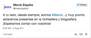 Mercksalud 1 tweet