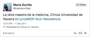 Clinica Navarra Primer Tweet