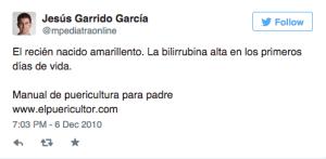 1 Tweet Jesús Garrido