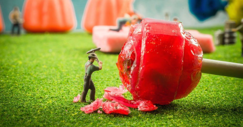 These Tiny Figurine People Working on a Candy Farm Is The Procrastination You Deserve