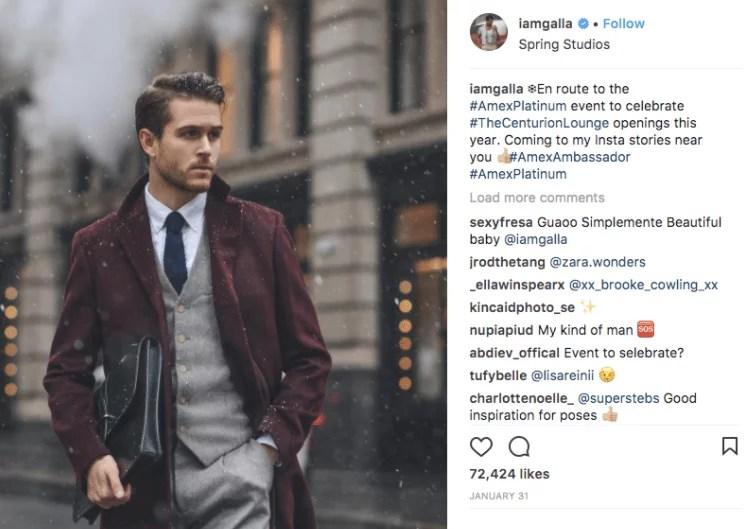 Instagram screenshot of Iamgalla