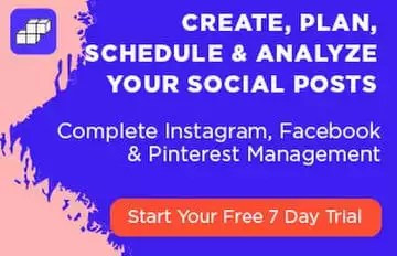 Complete Instagram, Facebook & Pinterest Management - Start Your Free 7 Day Trial