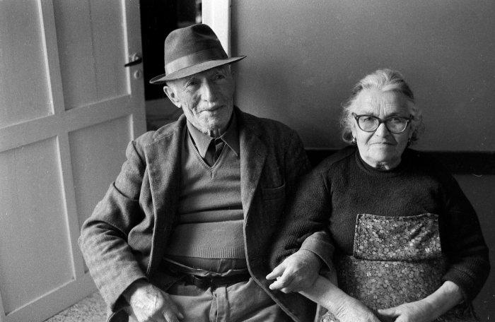 Couple of elderly farmers