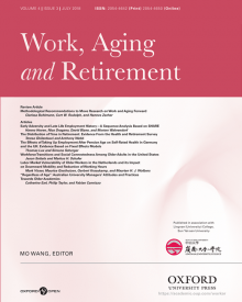 "Work, Aging and Retirement (2018) — Teresa Ghilarducci, ""The Distribution of Time in Retirement: Evidence From the Health and Retirement Survey"""