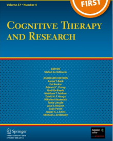 "Cognitive Therapy and Research (2018) — Adam Brown, ""Decreasing Event Centrality in Undergraduates Using Cognitive Bias Modification of Appraisals"""