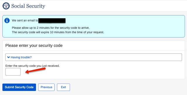 """My social security login security code"""