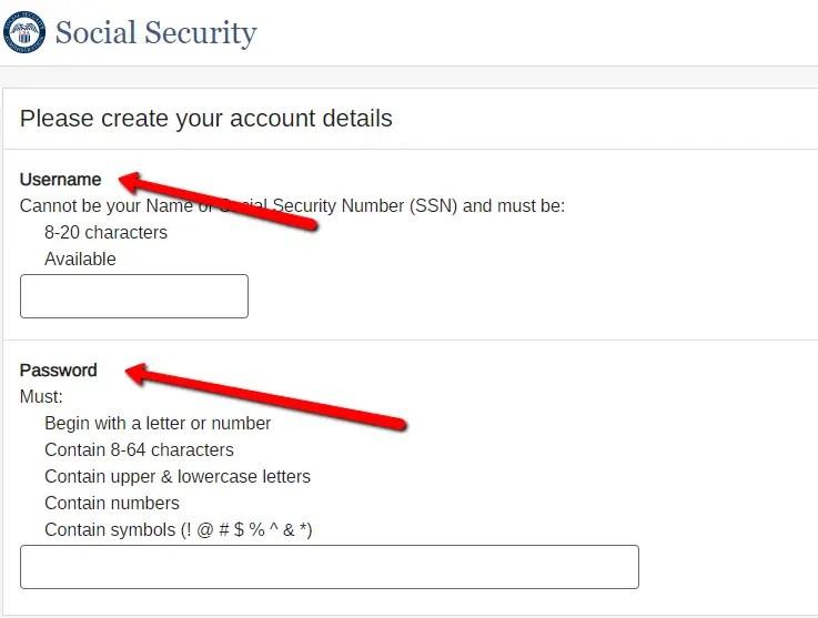 mySS Username and Password