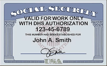 """What does a Social Security card look like - 2"""