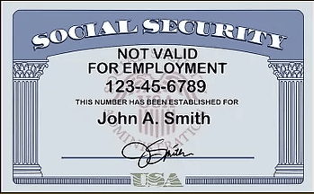 """What does a Social Security card look like - 3"""