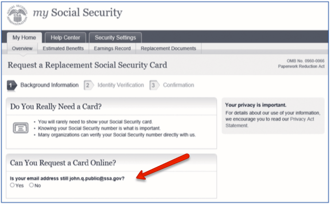 """""""Get a Replacement Social Security Card 1"""""""