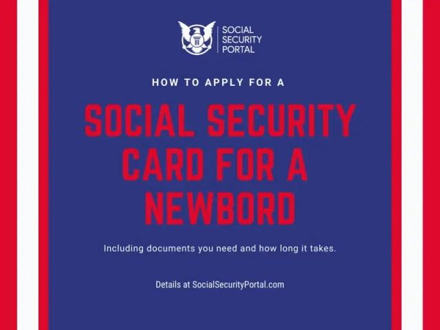 """Social Security Card for Newborn"""