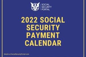 """2022 Social Security Payment Calendar Printable"""