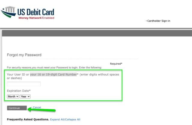 """EIP Card account forgot password 1"""