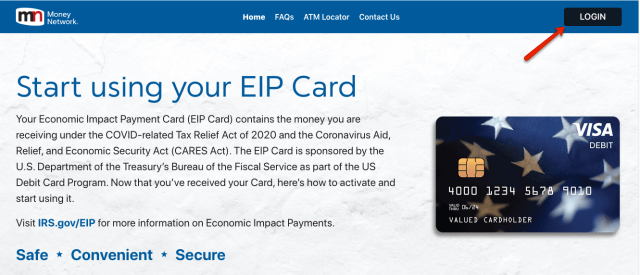 """""""How do I log in to my EIP Card account"""""""