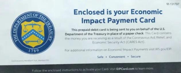 """Why Did I Receive a Stimulus Debit Card"""