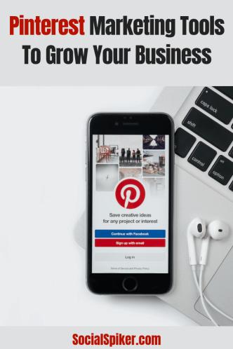 Cellphone with Pinterest Website on Cellphone Screen