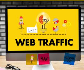 yellow backgroud web traffic