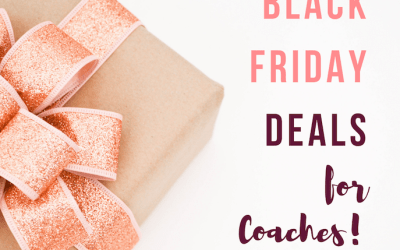 Black Friday Deals for Coaches!