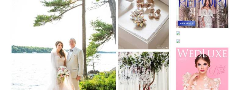 Our 3rd Wedding Anniversary! As seen in WedLuxe Magazine