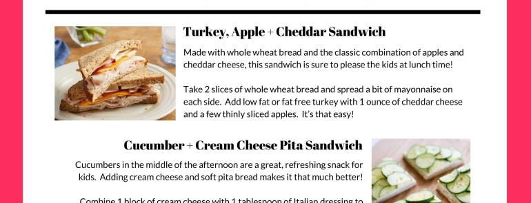 Healthy School Lunch Ideas + Recipes