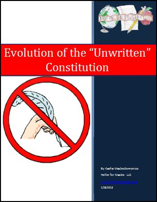 """Evolution of the """"Unwritten"""" Constitution Differentiated Instruction lesson plan"""