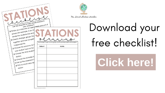 primary sources stations checklist download
