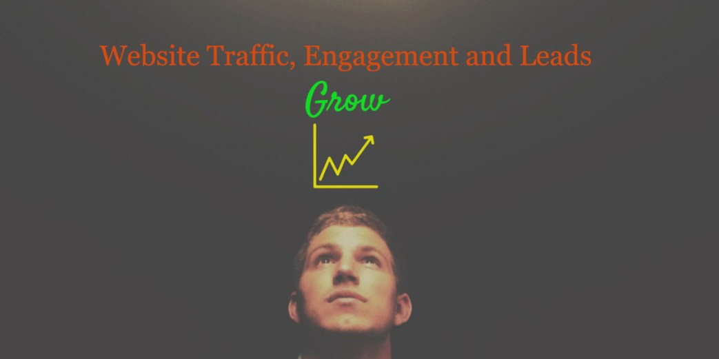social media grow website traffic, engagement and leads