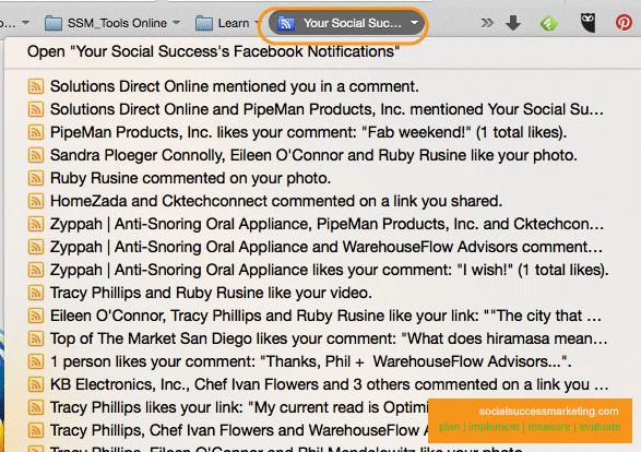 Firefox' Facebook RSS Feed
