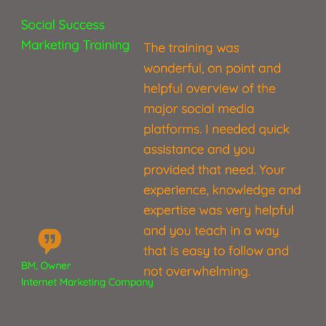 social media training review