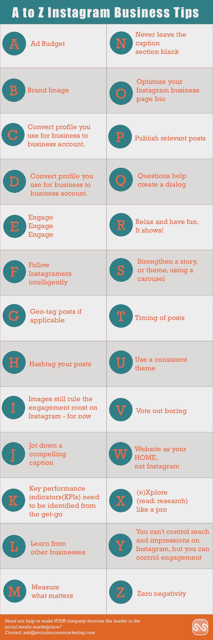 Instagram Business Tips