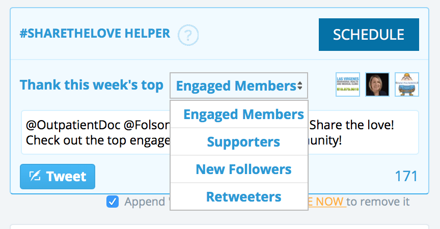 twitter followers categories