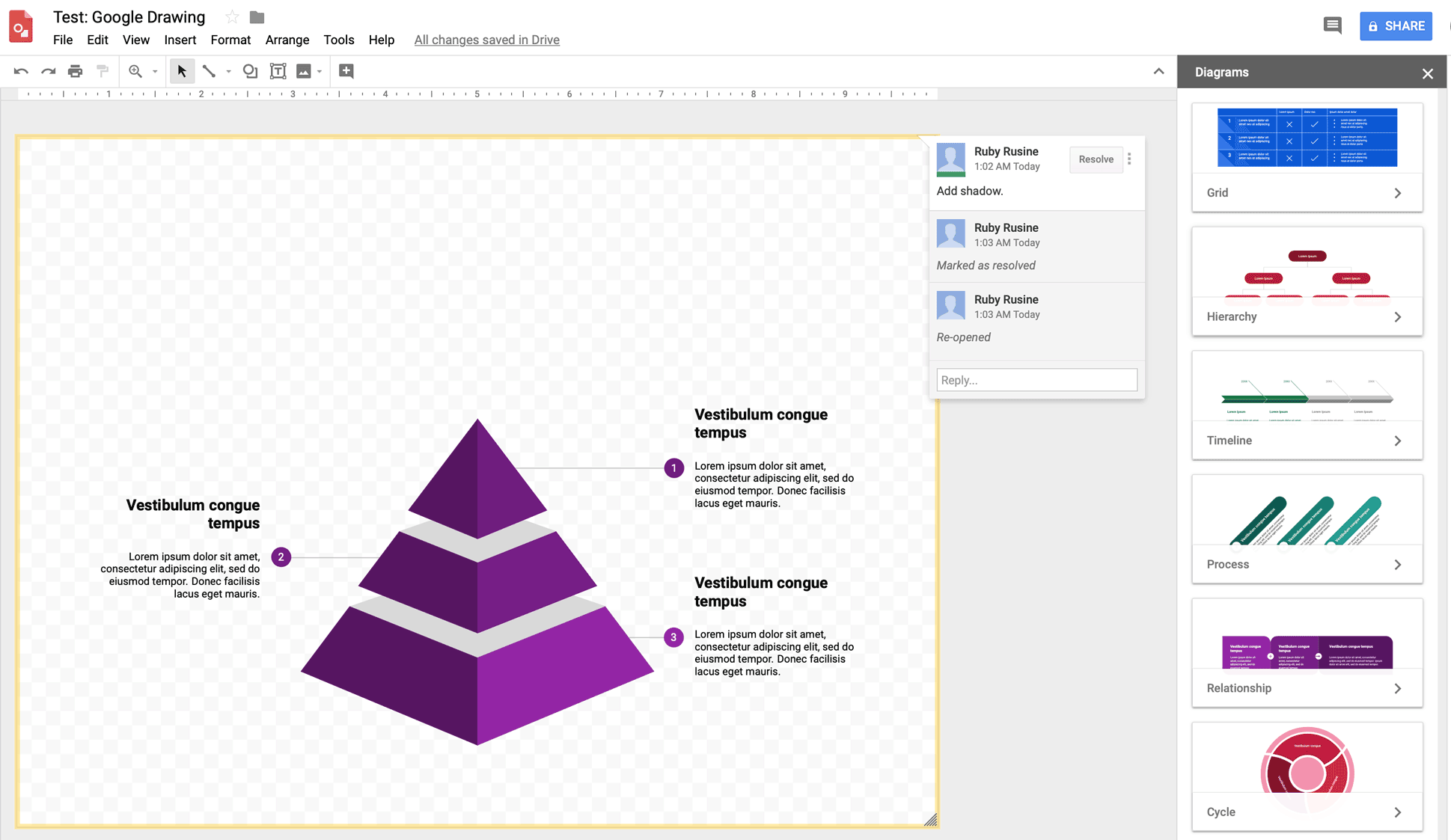 google drawing visual tool