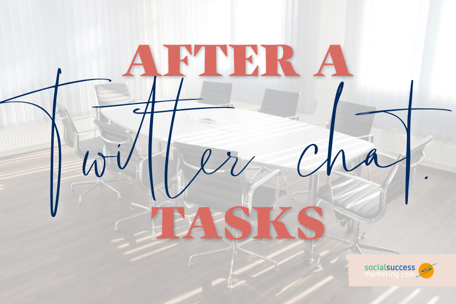 what to do after a Twitter chat