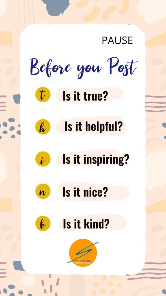 twitter social media post tip PAUSE