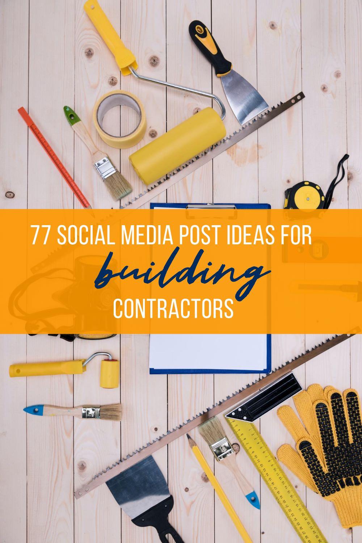 building contractors social media