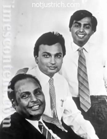 Dhirubhai Ambani  Anil ambani and mukesh ambani Photo