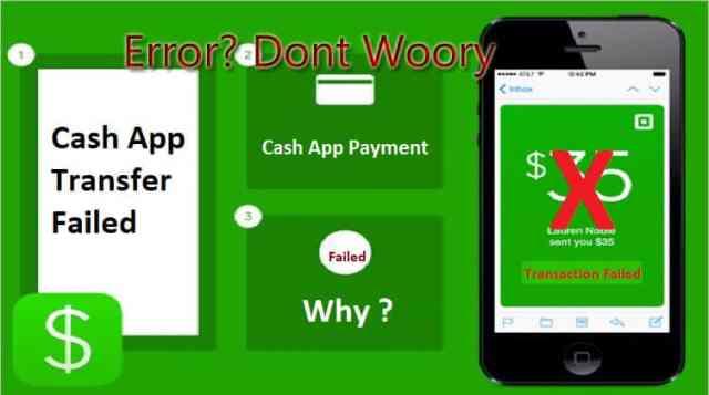 Cash App tranfer Failed